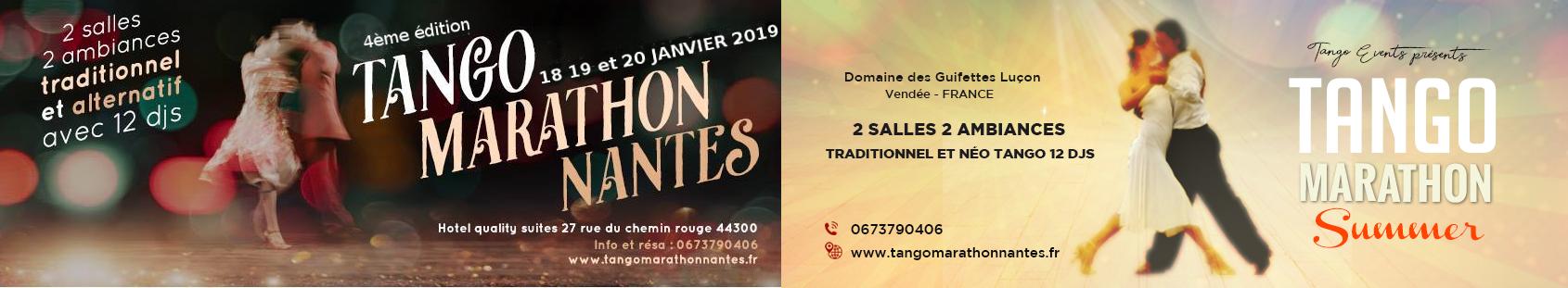 Tango Marathon Nantes 2021 du 22 au 24 janvier ......... Tango Marathon Summer 2021 du 28 au 30 mai