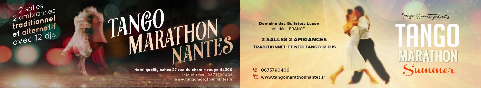 Tango Marathon Nantes 2021 du 22 au 24 janvier ......... Tango Marathon Summer 2020 du 5 au 8 juin